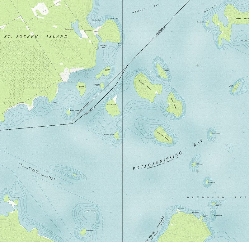 The existing map and conditions of Potagannissing Bay