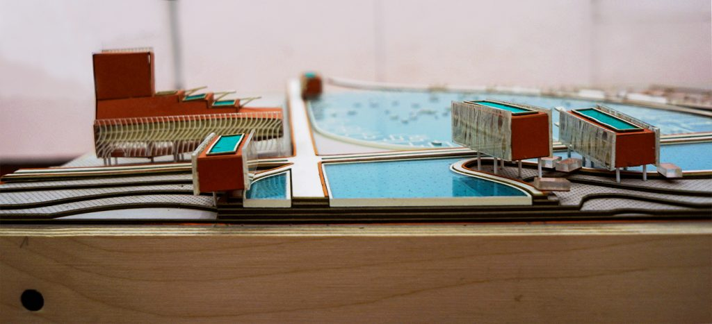 Detail Model - View of Lake Plattus and Campus buildings