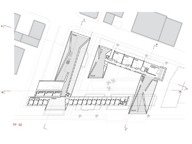 Plans Courtyard Zone