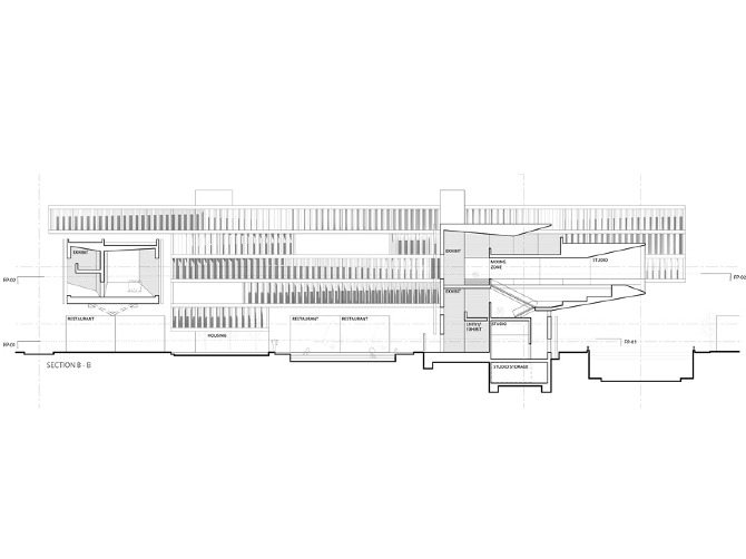 Sections Cross Section Courtyard Zone