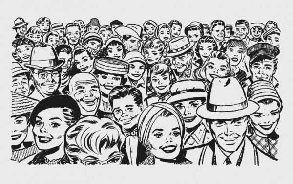 Retro vectors - 50s60s-Crowd