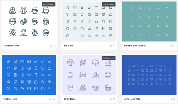 Icon store vectors