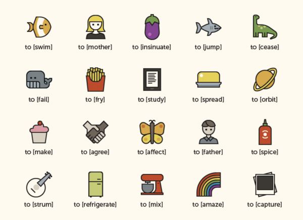To Icon for verbs